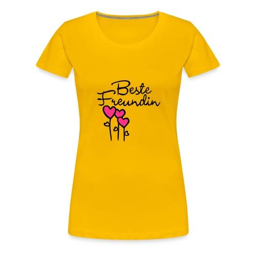 BESTE FREUNDIN mit Herz - Frauen Premium T-Shirt