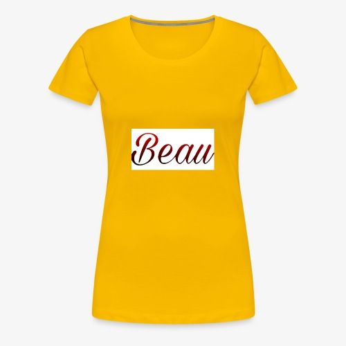 itzBeau Beau with white background - Women's Premium T-Shirt