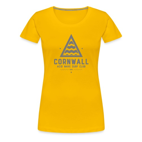 Cornwall Acid Wave Surf Club - Women's Premium T-Shirt