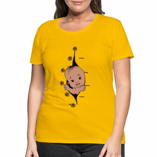 Design 1 baby without smile buttons left - T-shirt Premium Femme