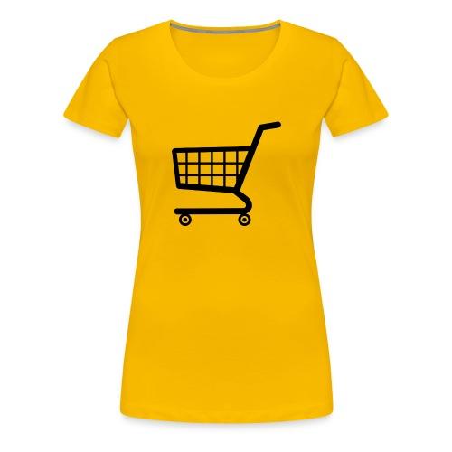 shopping cart png i8 png - Women's Premium T-Shirt
