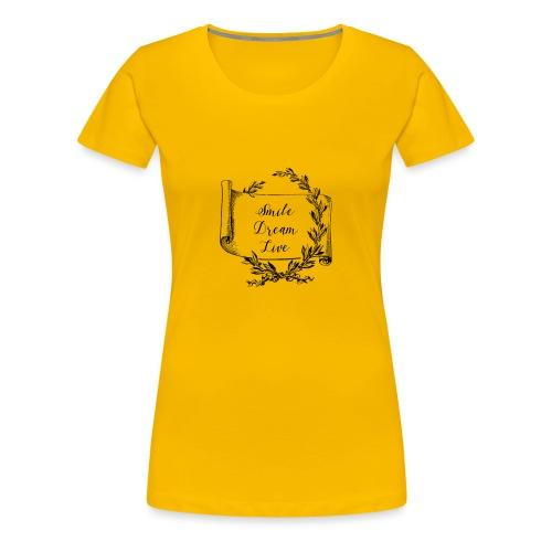 mug humour smile dream live - T-shirt Premium Femme