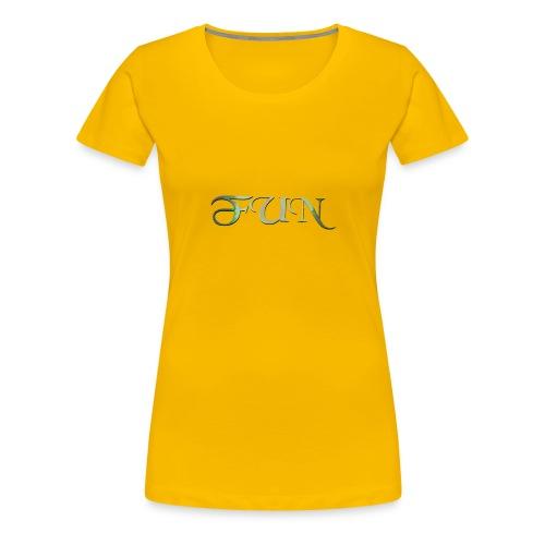 Fun geschwungene Schrift - Frauen Premium T-Shirt
