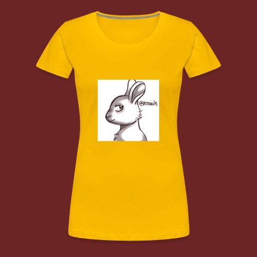Konijn van @pessaah volg haar op twitter - Vrouwen Premium T-shirt