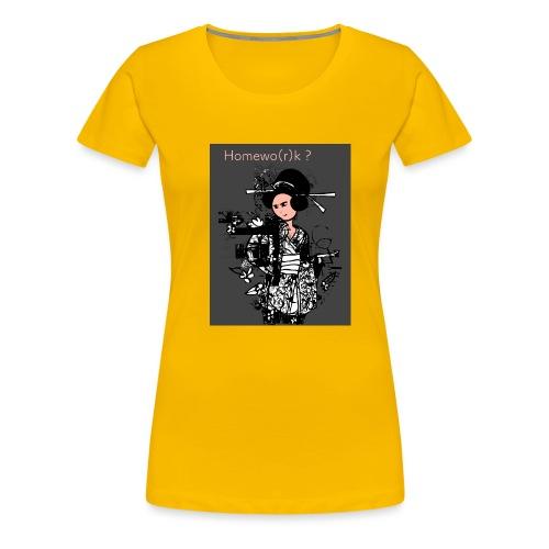 homewo r k - Frauen Premium T-Shirt