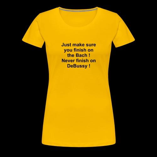 Bach DeBussy - Women's Premium T-Shirt