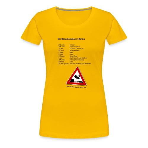 Menschenleben in Zahlen - Frauen Premium T-Shirt