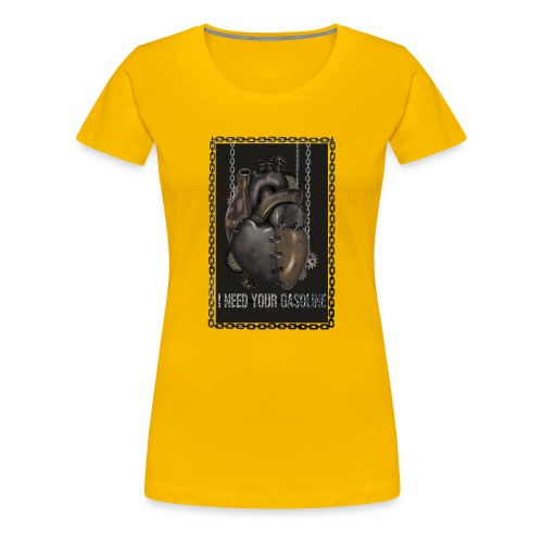 corazón sin gasolina - Camiseta premium mujer