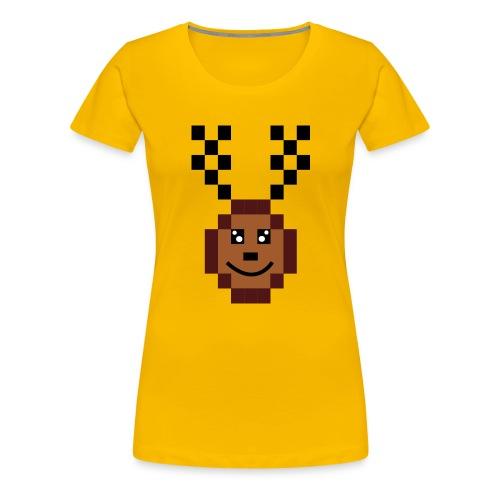 Renna8Bit - Maglietta Premium da donna