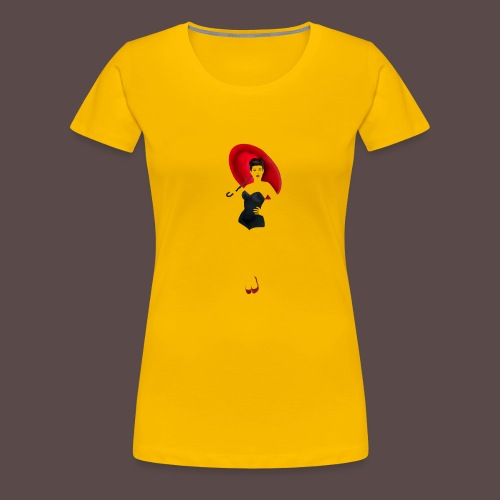 Pin up - Red Umbrella - Maglietta Premium da donna