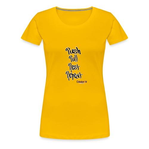 Push pull rest repeat design - Women's Premium T-Shirt