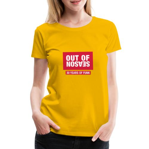OOS RED - Dame premium T-shirt