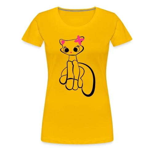 Maja gräddnos - Premium-T-shirt dam