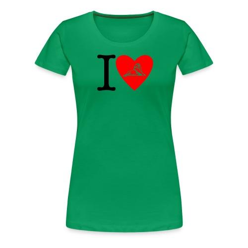 I love Belfort Lion - T-shirt Premium Femme