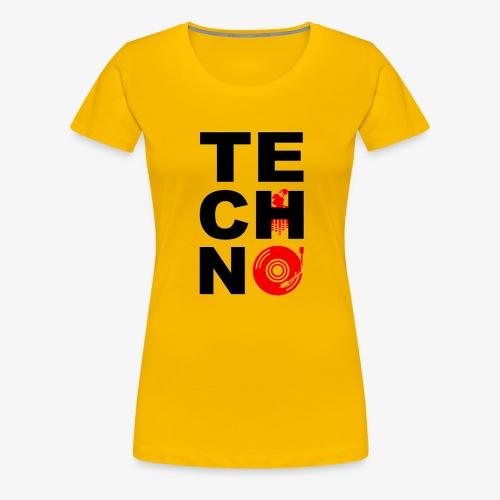 TECHNO VINILO - Camiseta premium mujer