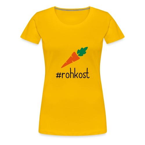 hasthtag rohkost karotte - Frauen Premium T-Shirt