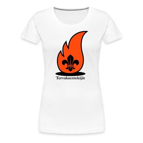Terte lieskalogo mustaora - Naisten premium t-paita