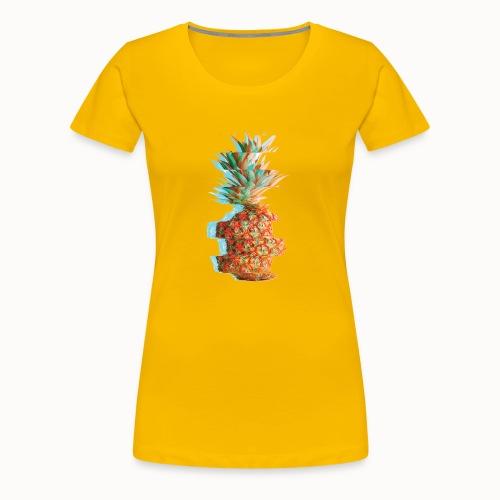 Pineapple Glitch - Women's Premium T-Shirt
