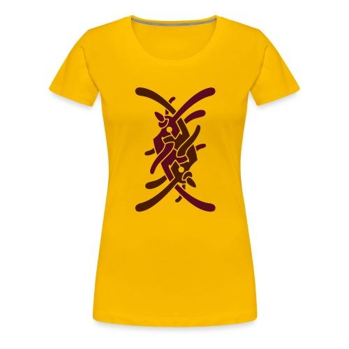 Stort logo på ryg - Dame premium T-shirt