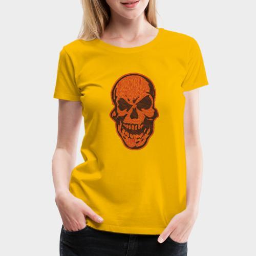 CALAVERA garabato - Camiseta premium mujer
