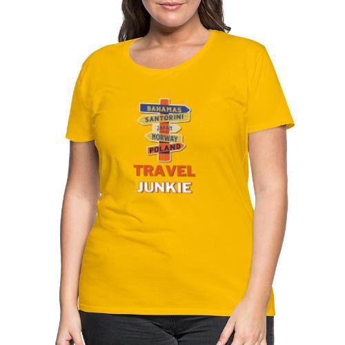 traveljunkie - i like to travel - Frauen Premium T-Shirt