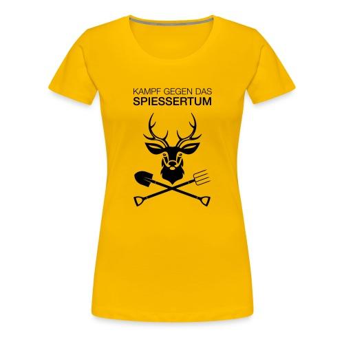 Einseitig - Frauen Premium T-Shirt