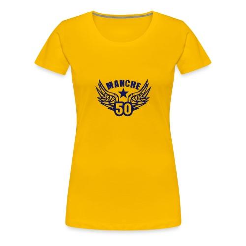 50 manche departement aile normandie - T-shirt Premium Femme