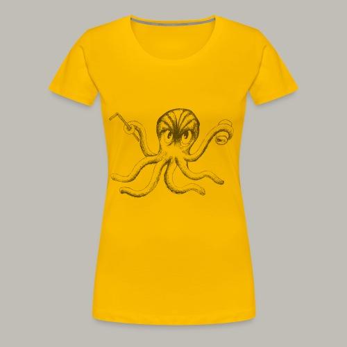 Black Octopus - T-shirt Premium Femme