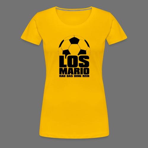 Jalkapallo - Go Mario, Hau asia puhdas (musta) - Naisten premium t-paita