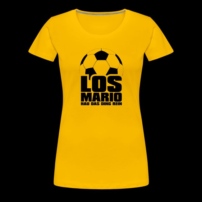 Fußball - Los Mario, hau das Ding rein (schwarz)