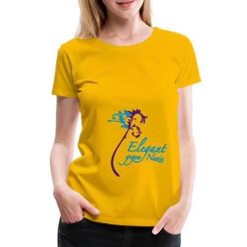 Elegant gegen Nazis - Frauen Premium T-Shirt