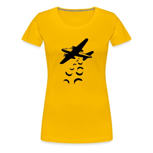 Bananas not bombs - Vrouwen Premium T-shirt
