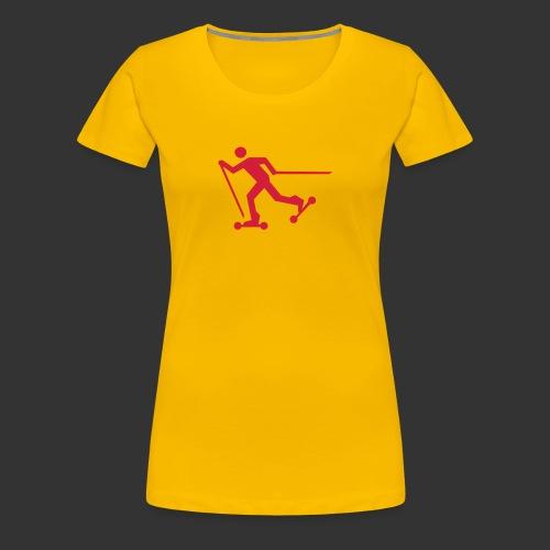 Nordic Skating - Frauen Premium T-Shirt