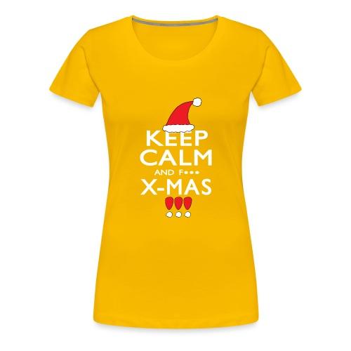 Keep calm XMAS - Frauen Premium T-Shirt