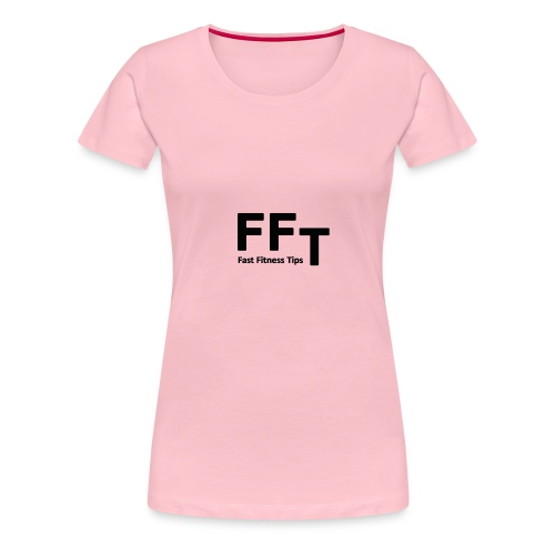 FFT simple logo letters - Women's Premium T-Shirt