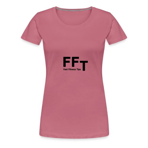 FFT simple logo letters - Women's Premium T-Shirt