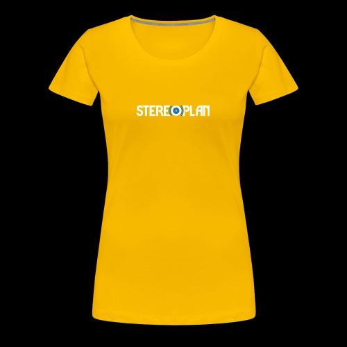 Stereoplan Logotype white - Premium-T-shirt dam