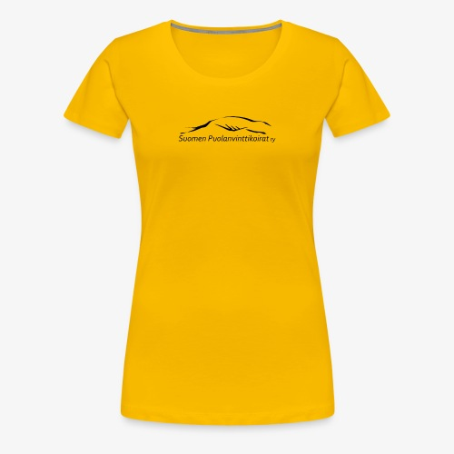 SUP logo musta - Naisten premium t-paita