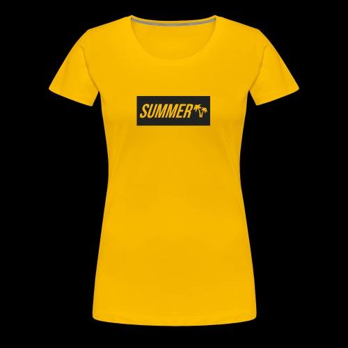 Summer Palm Logo - Premium T-skjorte for kvinner