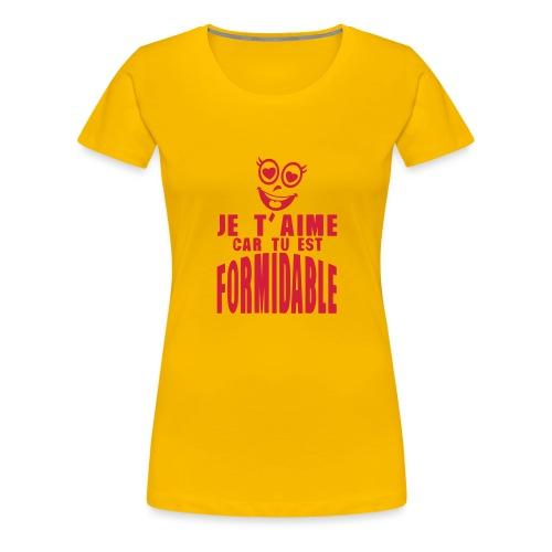 je aime car formidable smiley amoureux - T-shirt Premium Femme