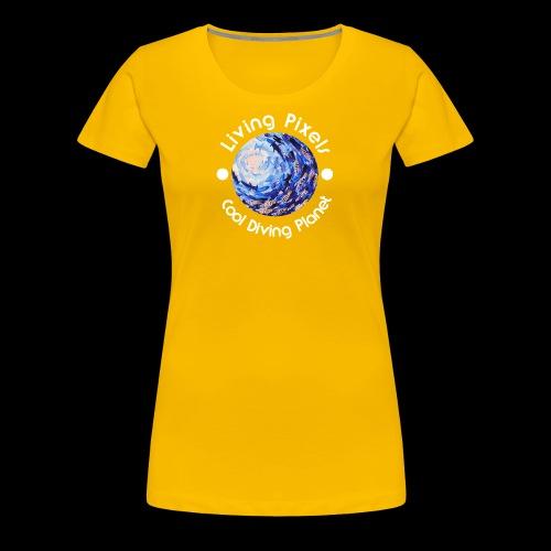 Living Pixels, Cool Diving Planet, Tauchen, hell - Frauen Premium T-Shirt