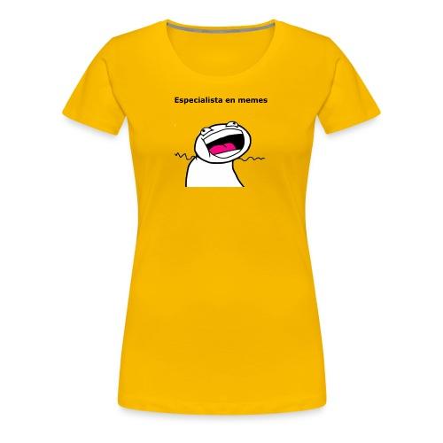 Especialista en memes - Camiseta premium mujer