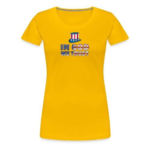 America-Slogan-In-God - Frauen Premium T-Shirt