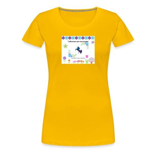 Fantastiske Enhjørninger - Premium T-skjorte for kvinner