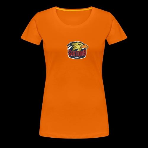 Sektion9 Logo GELB - Frauen Premium T-Shirt