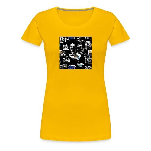 Vintage Kameraer - Premium T-skjorte for kvinner