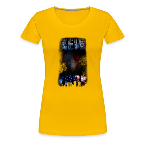 New York Skyline - Frauen Premium T-Shirt