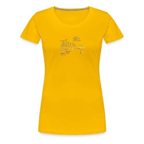1a ta wordle grau transparent - Frauen Premium T-Shirt