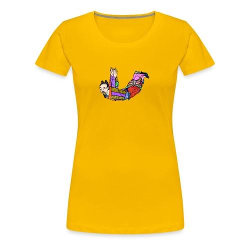Chinese woodcut Qigong exercise - Women's Premium T-Shirt