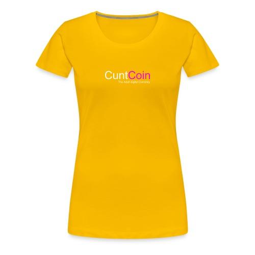 CuntCoin w/p - Women's Premium T-Shirt